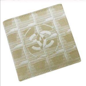 Chanel beige mini wallet